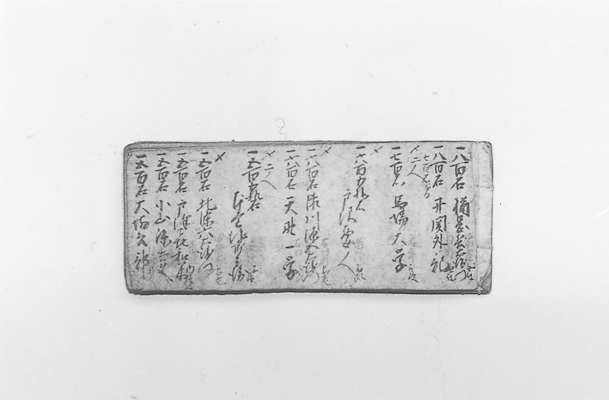 分限帳(永田家文書)