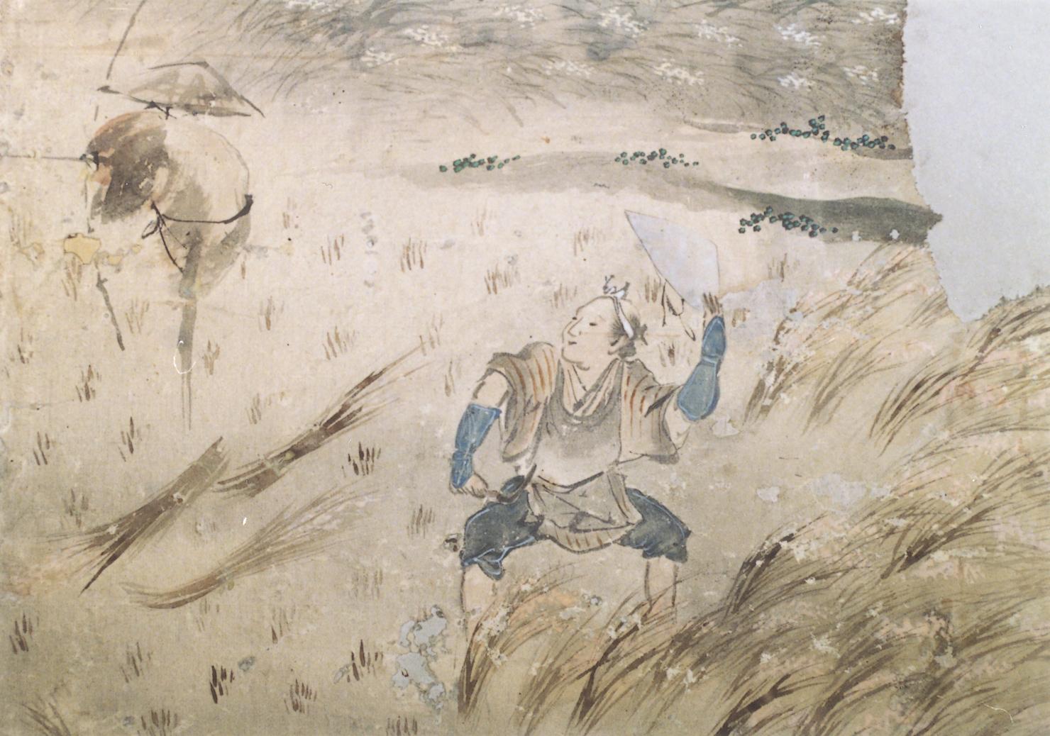 四季農耕図(部分)