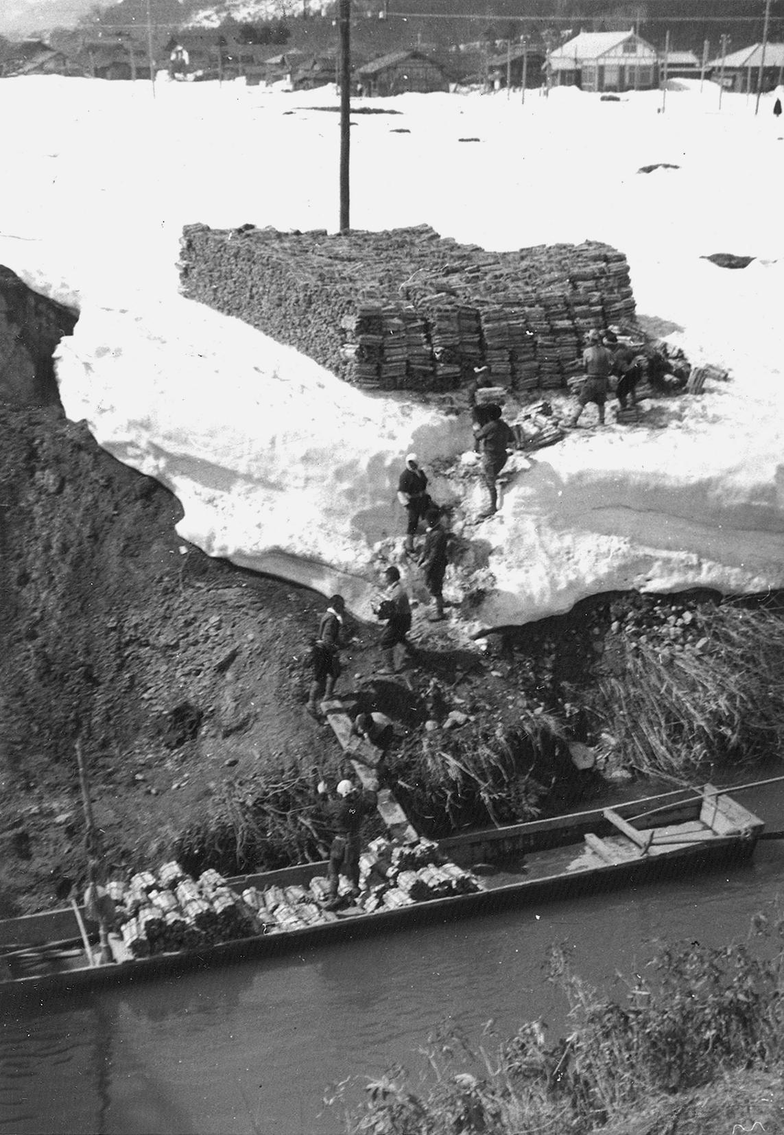 木材運搬集荷作業