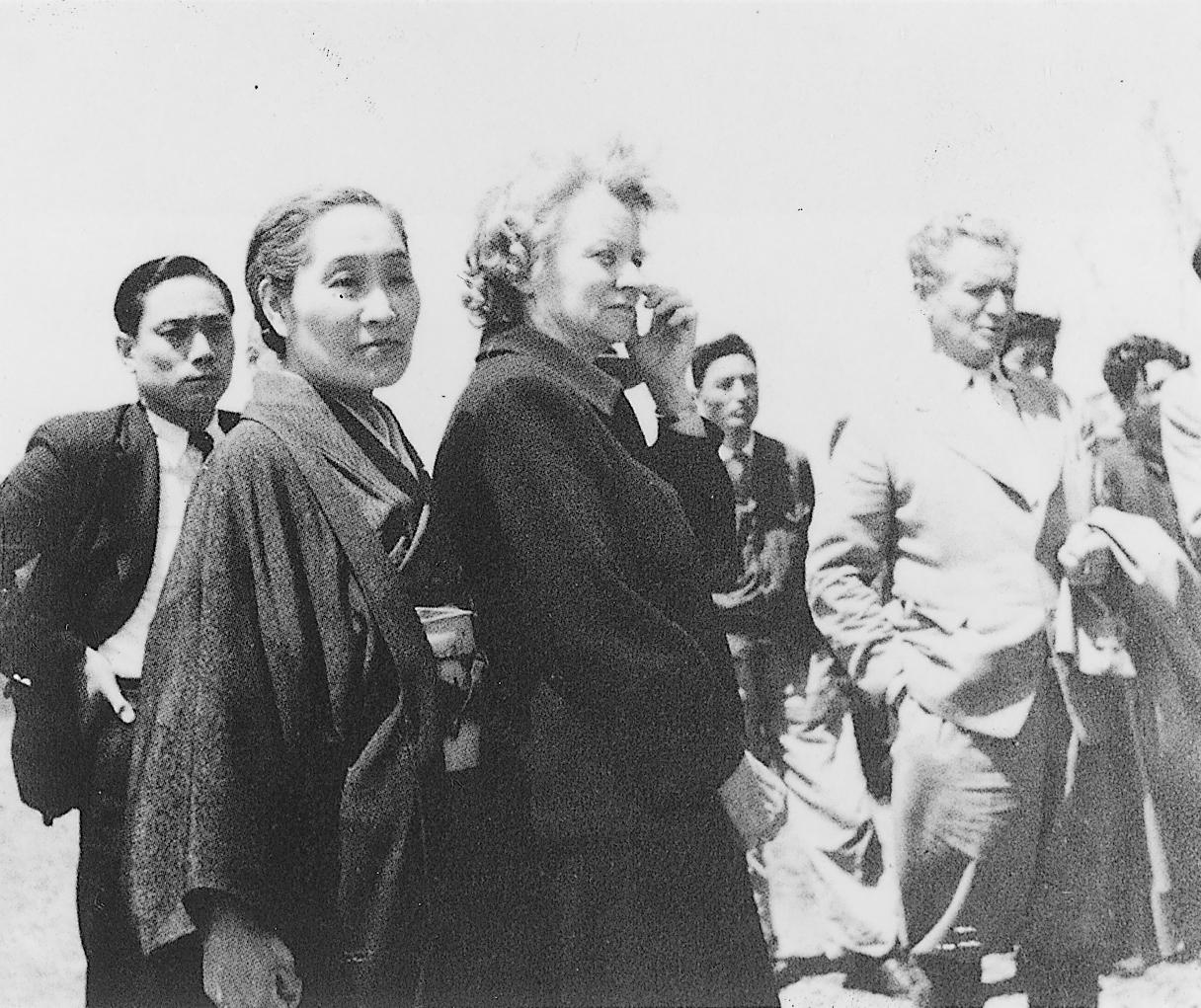 フェンガー夫妻と戸沢錦子市長夫人