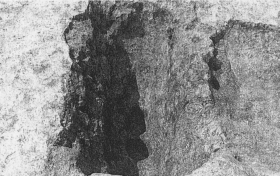 中川原C遺跡のおとし穴の状況