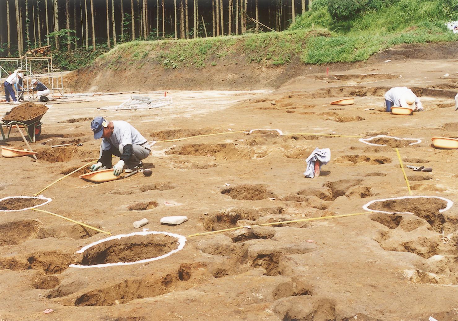 かっぱ遺跡の掘立柱建物跡