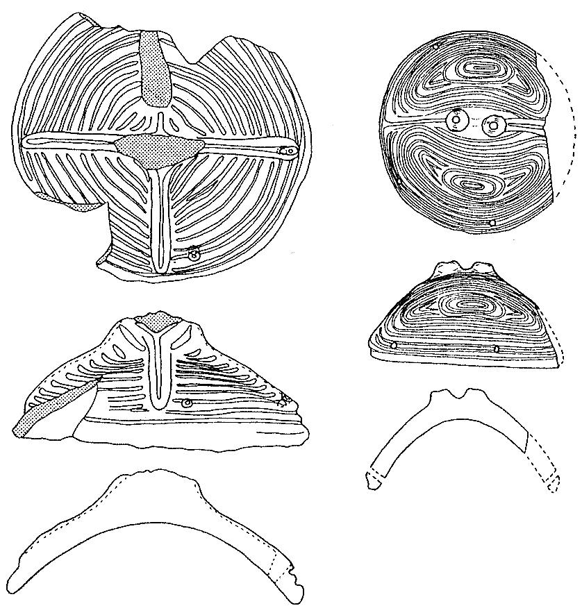 げんだい遺跡出土の蓋形土器(実測図)