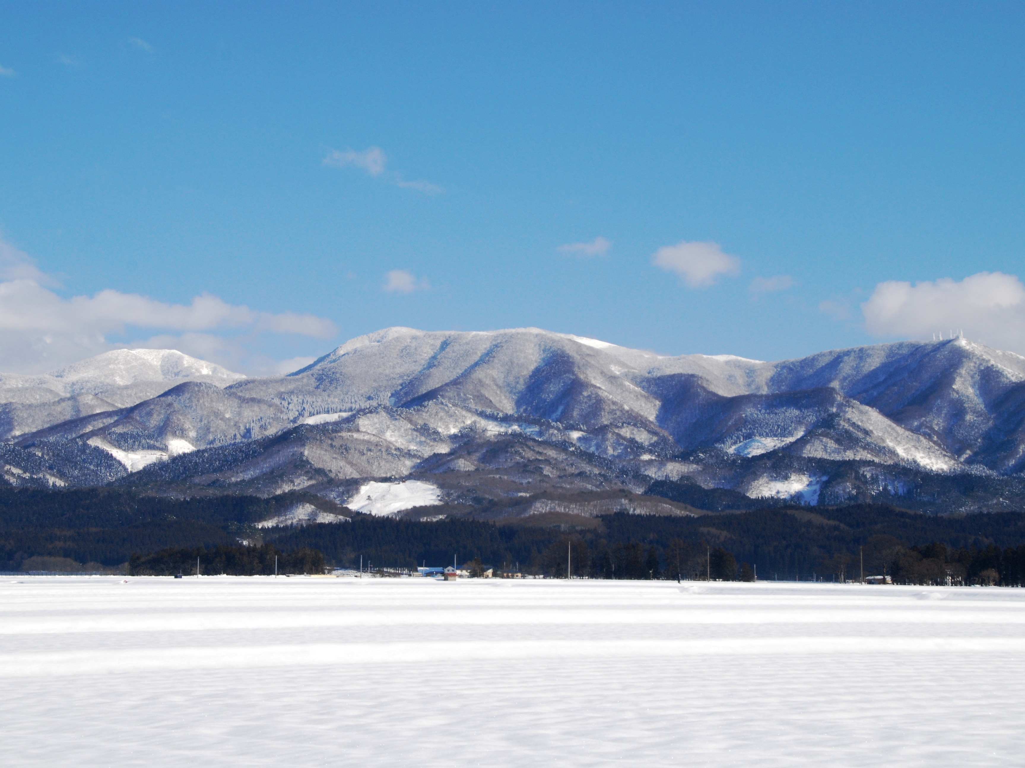 郊外の雪景色