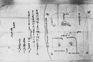 萩野村宝蔵寺境内図