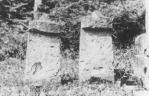 皿島の板碑(戸沢村)
