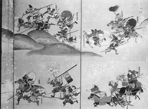 長谷堂合戦図屏風(部分)(1)