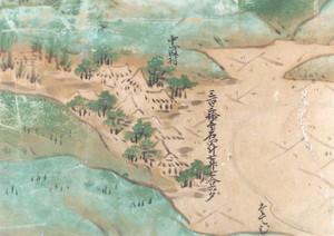 領内図屏風(中渡村部分)