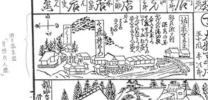 瀬見温泉図(『東講商人鑑』より)