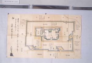 元禄3年新庄城修復願付図