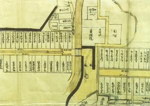 北方諸町絵図(吉川町・鍜治町部分)