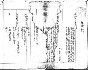 長野太郎左衛門家系図