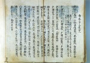「仙北以来ノ衆」(「戸沢藩系図書」より)