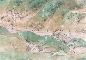 領内図屏風(黒沢村・判屋部分)