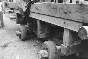角館祭り 山車の台車部分