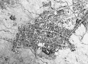 新庄市街地航空写真