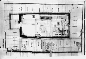 新庄城及び周囲見取図