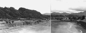 遠景の山と川
