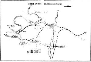 猿羽根道工事地図