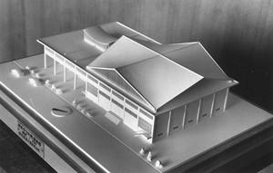 公民館 図書館 模型