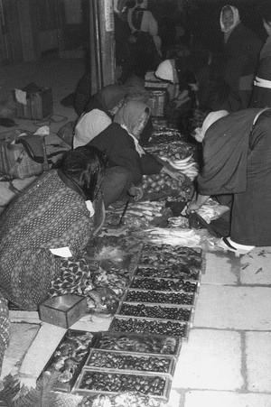 街頭の野菜市 十字街昭和35年頃