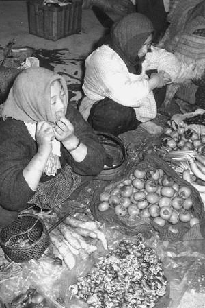 詰の市 野菜市 十字街昭和35年頃