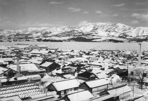 雪の市街地