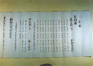 天明8年領知目録(写)