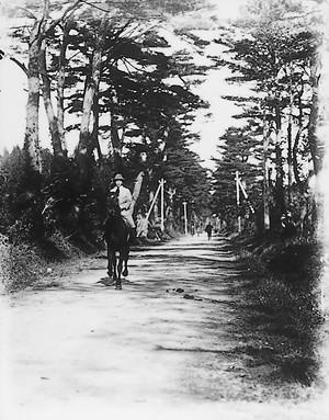 旧羽州街道(高壇・大正13年ころ)