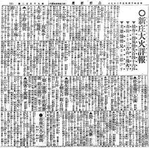 新庄大火新聞記事