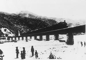 西線を行く列車