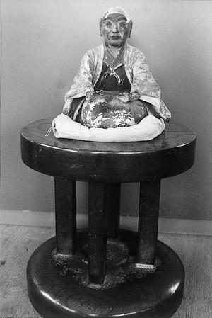 初代涌井弥兵衛陶像とロクロ