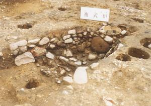 中台4遺跡の復式炉の様子