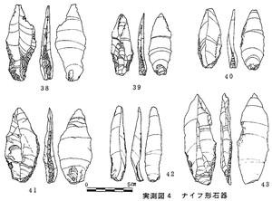 乱場堂遺跡出土ナイフ形石器(実測図)