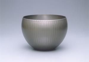 人間国宝・奥山峰石作品(5点)(朧銀鉢)