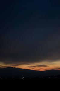 萩野の日が落ちるとき