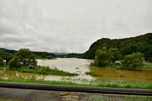 最上川増水