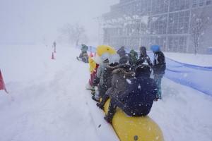 雪国ワンダーランドでバナナボート