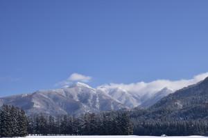 神室山系の雪景色
